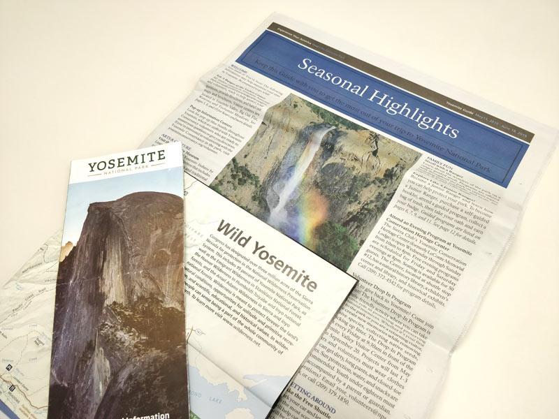 ヨセミテ国立公園の地図や新聞