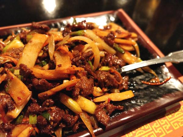 牛肉と竹の子の炒めもの(スパイシー)