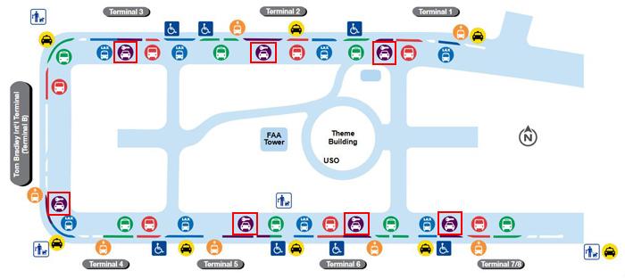 トムブラッドレー国際線ターミナル地図