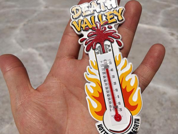バッドウォーターで気温を測ってみた(地上130センチ)