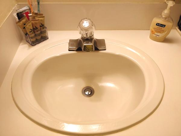 インデペンデンスコートハウスモーテルの洗面所