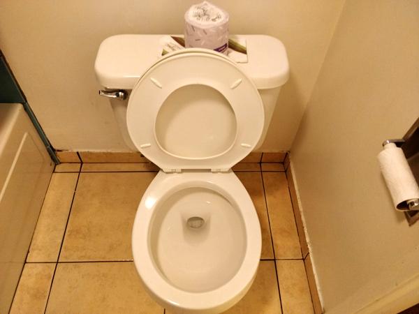 インデペンデンスコートハウスモーテルのトイレ