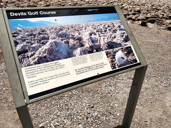 デスバレー国立公園 デビルズゴルフコース(Devil's Golf Course)