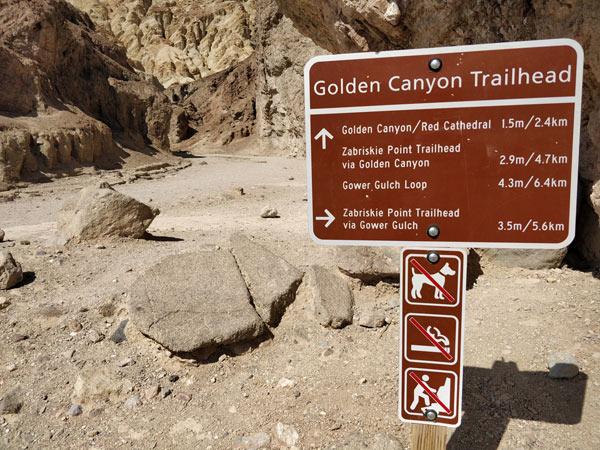 デスバレー国立公園 ゴールデンキャニオントレイル(Golden Canyon Trail)