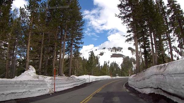 ソノラパスの積雪の状況