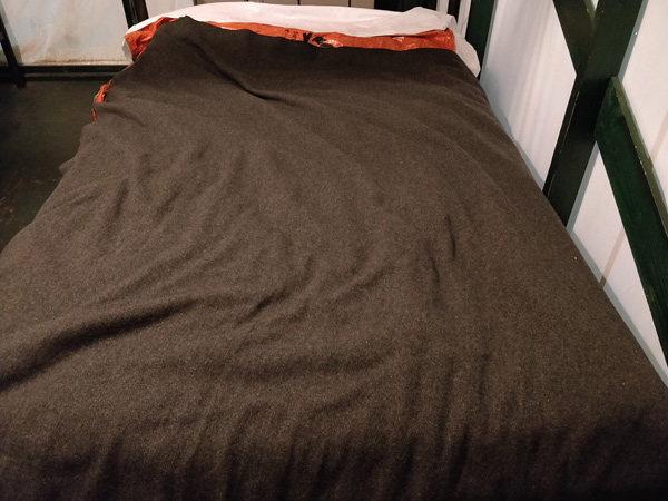 ベッド+サバイバルブランケット