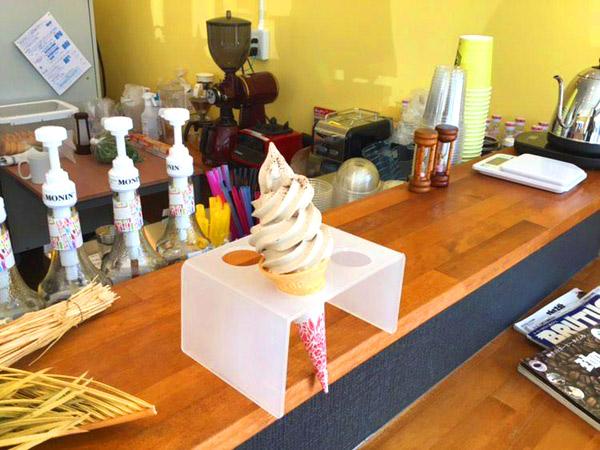 珈琲ソフトクリームが人気!
