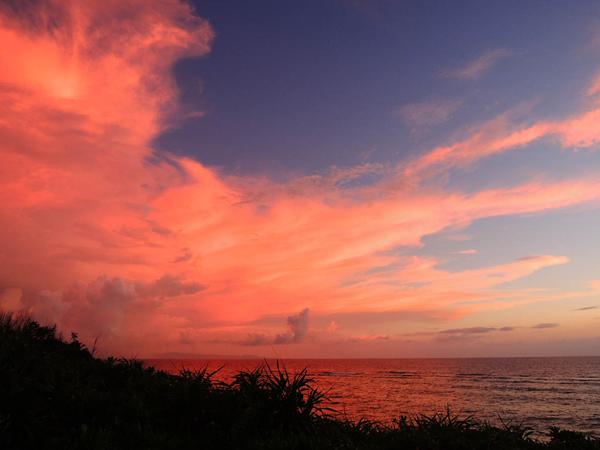 与論島 夕日の穴場【兼母海岸近くのビーチ】
