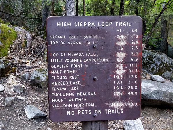 ミスト・トレイル(Mist Trail)、ハイキングルート解説