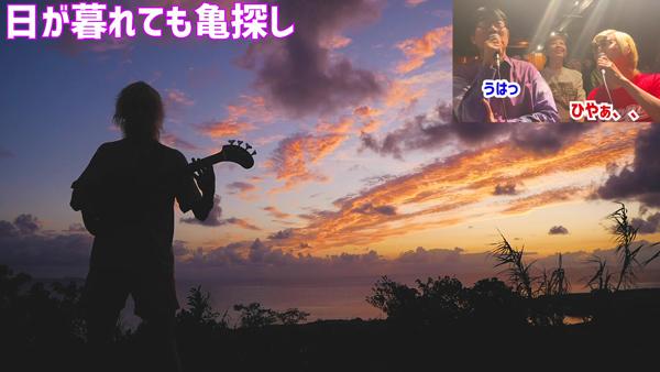 たなしん(タナブロ) in 与論島【日が暮れても亀探し(城跡)】