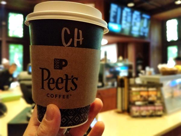 8:00~8:15 食事 コーヒーコーナー(ピーツコーヒー & ティー)