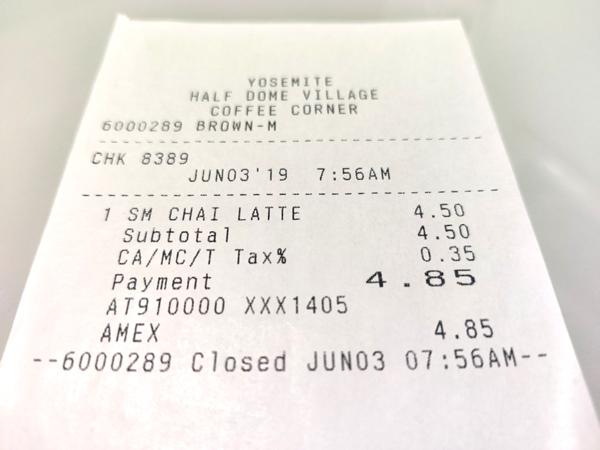 チャイラテのお値段
