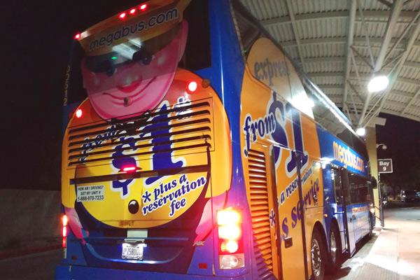 メガバスのバス停【ラスベガス】