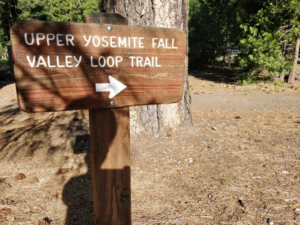 アッパーヨセミテ滝トレイルの場所・行き方