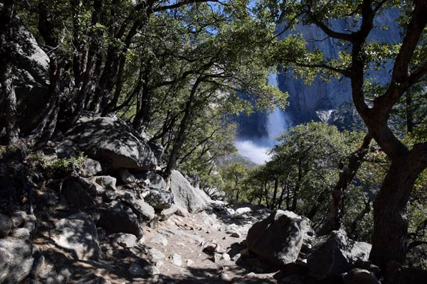 ハイキング体験記 第2部:アッパーヨセミテ滝まで