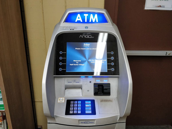 ATMが設置されている