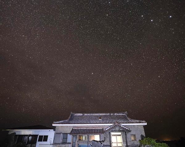 Shima Hotelから見える星空