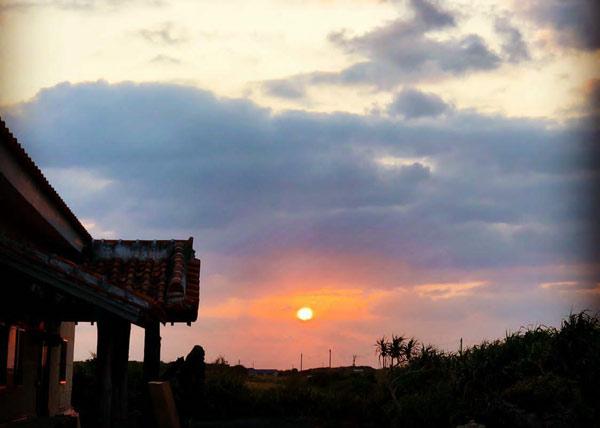 Shima Hotelから見える朝日