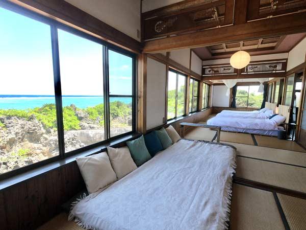 寝室の風景と設備