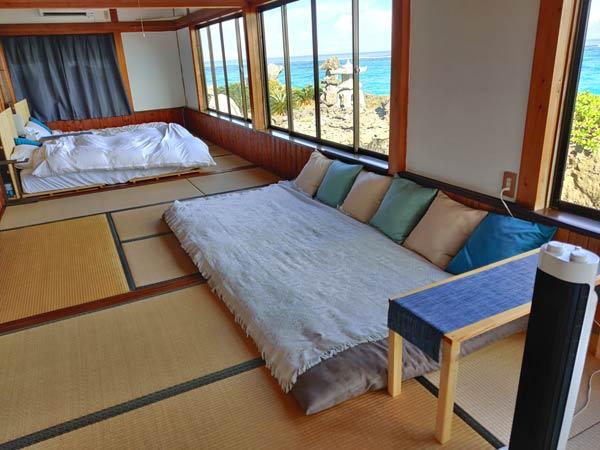寝室からの絶景