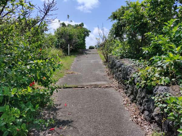 与論城跡(琴平神社)の遊歩道