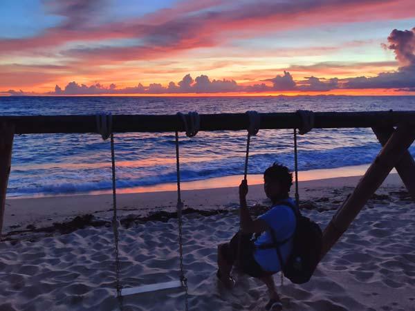 夕方のパラダイスビーチ